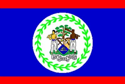 BELIZE - 3 X 2 FLAG